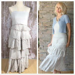 Saga Clothing Romantic Boutique Ruffle Silk Dress